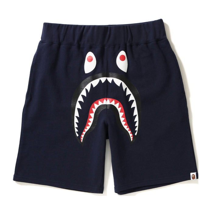 Bape Shark Sweat Shorts Navy