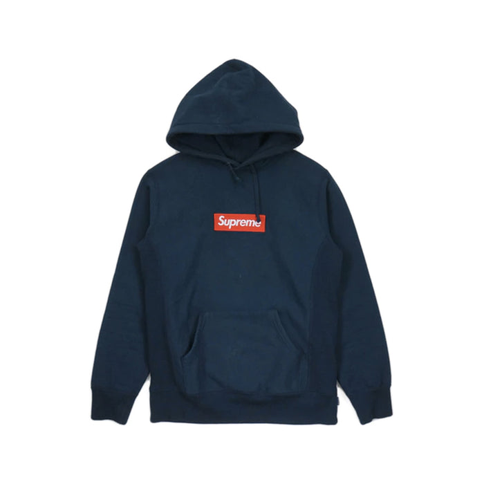 Supreme Box Logo Hooded Sweatshirt Navy