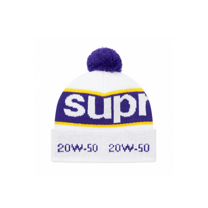 Supreme Garage Beanie White
