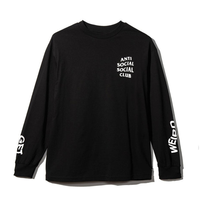 Anti Social Social Club Get Weird L/S Tee Black