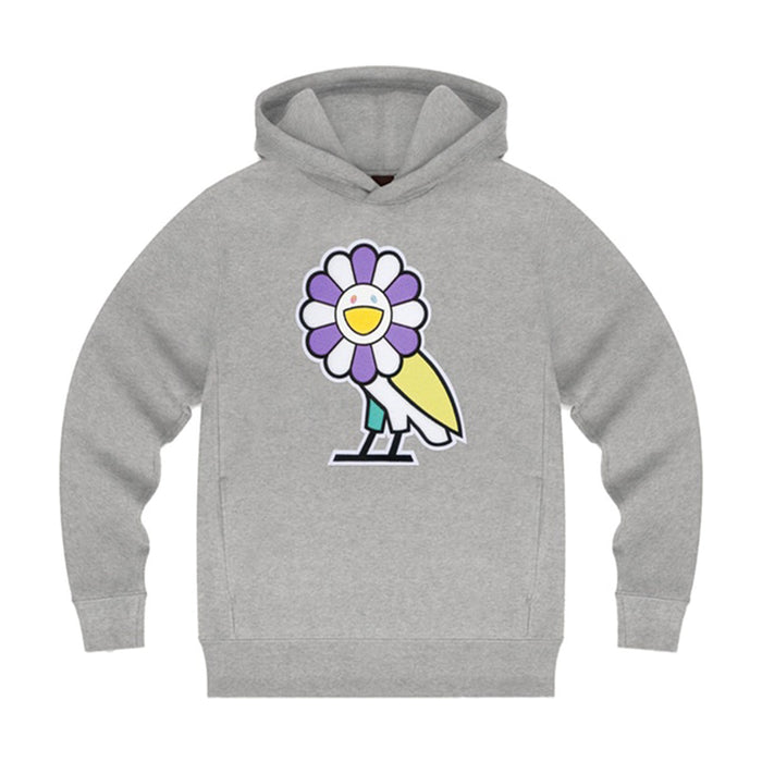 Takashi Murakami x OVO Surplus Flower Owl Hoodie Heather Grey