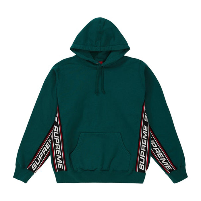 Supreme Text Rib Hooded Sweatshirt Dark Green