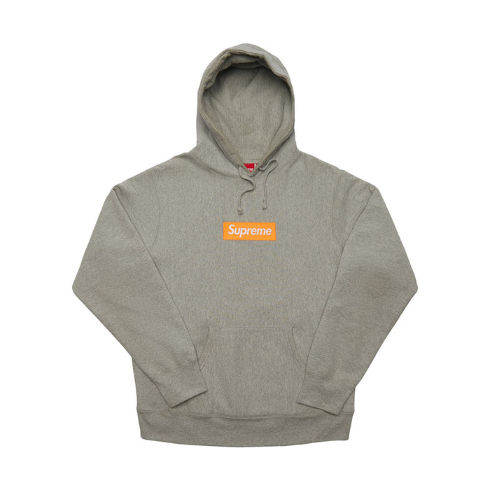 Supreme Box Logo Hooded Sweatshirt (FW17) Heather Grey