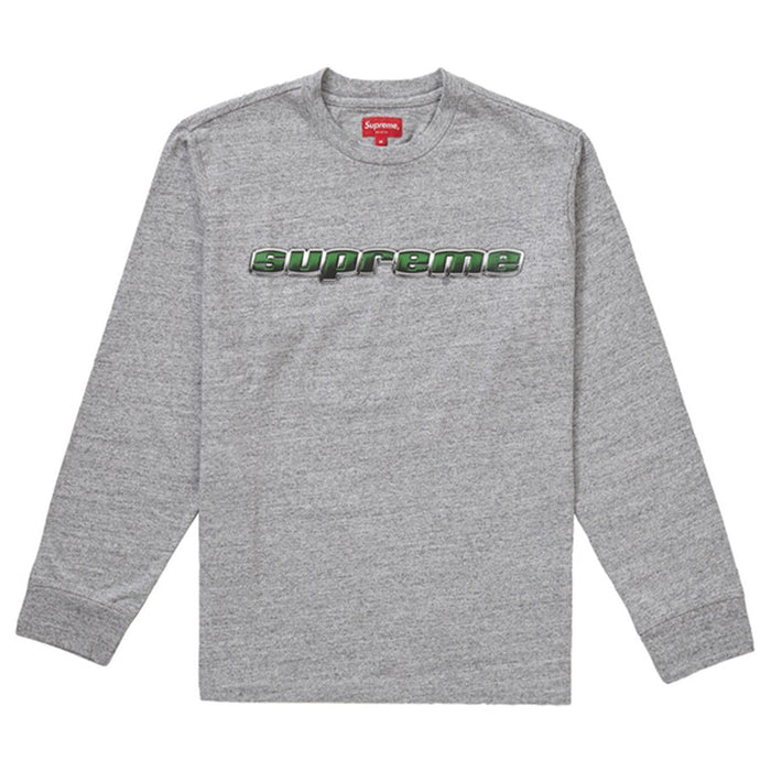 Supreme Chrome Logo L/S Top Heather Grey