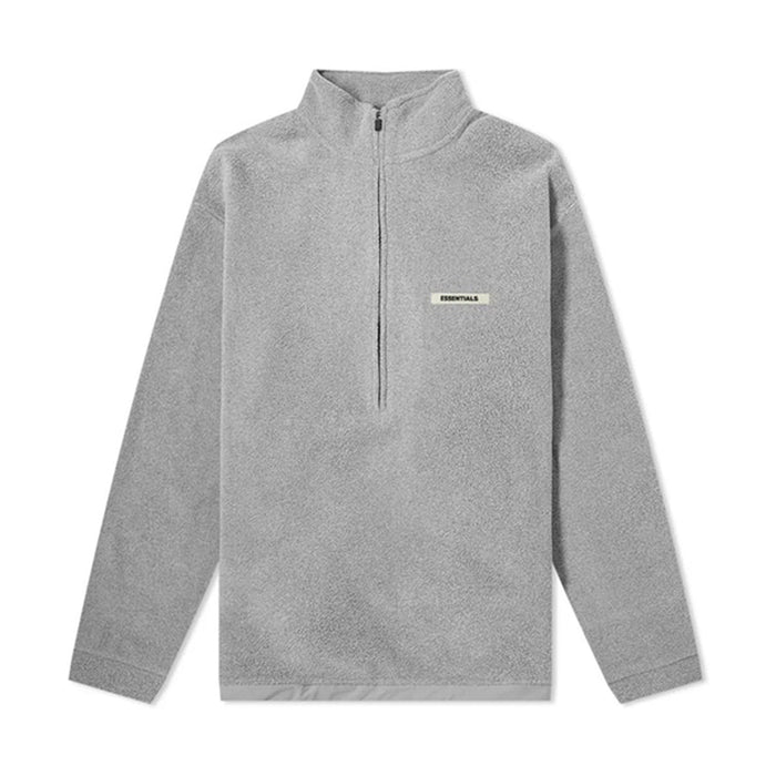 FOG Essentials Grey Polar Fleece Half-Zip Pullover