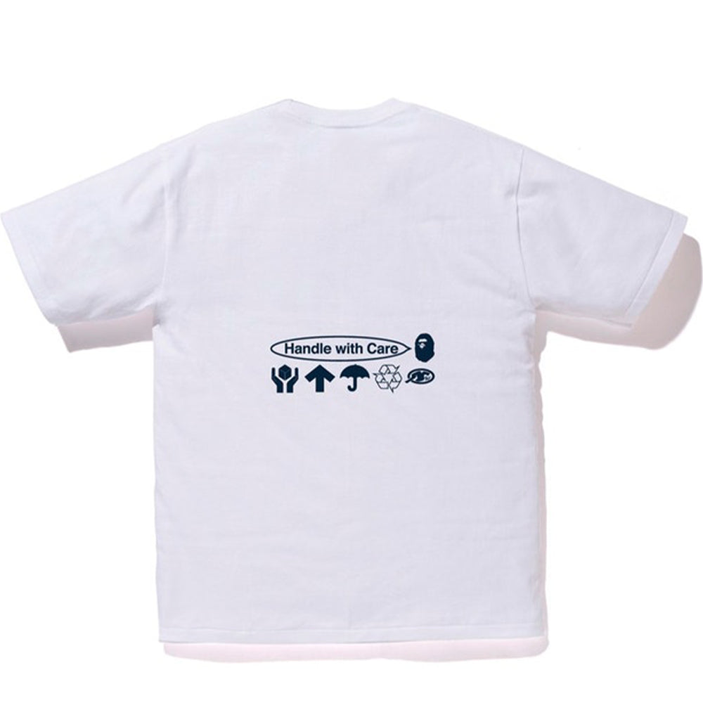 BAPE Handle With Care Tee White