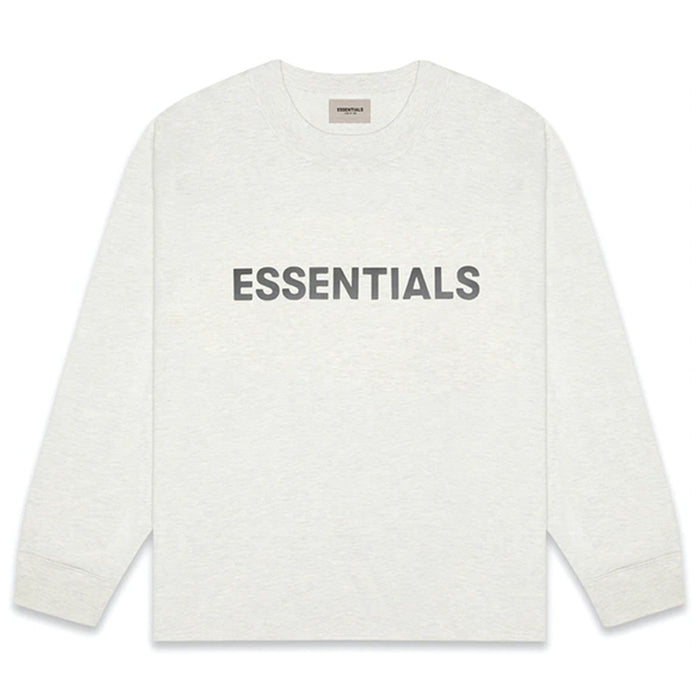 FOG ESSENTIALS 3D Silicon Applique Boxy L/S Light Heather Oatmeal