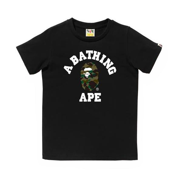 Bape 1st Camo College Tee Black/Green