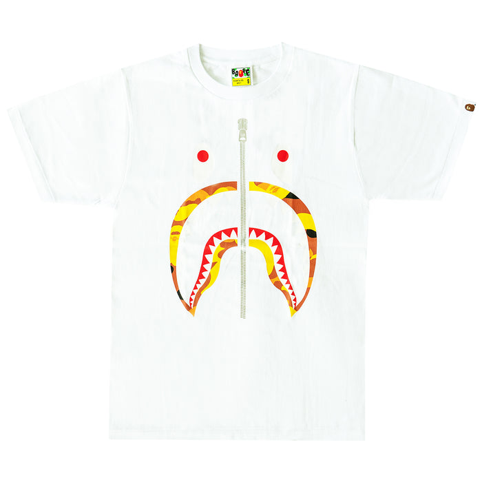 Bape ABC Camo Shark Tee White/Orange