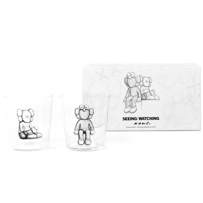KAWS Seeing/Watching Companion Glass Set Clear