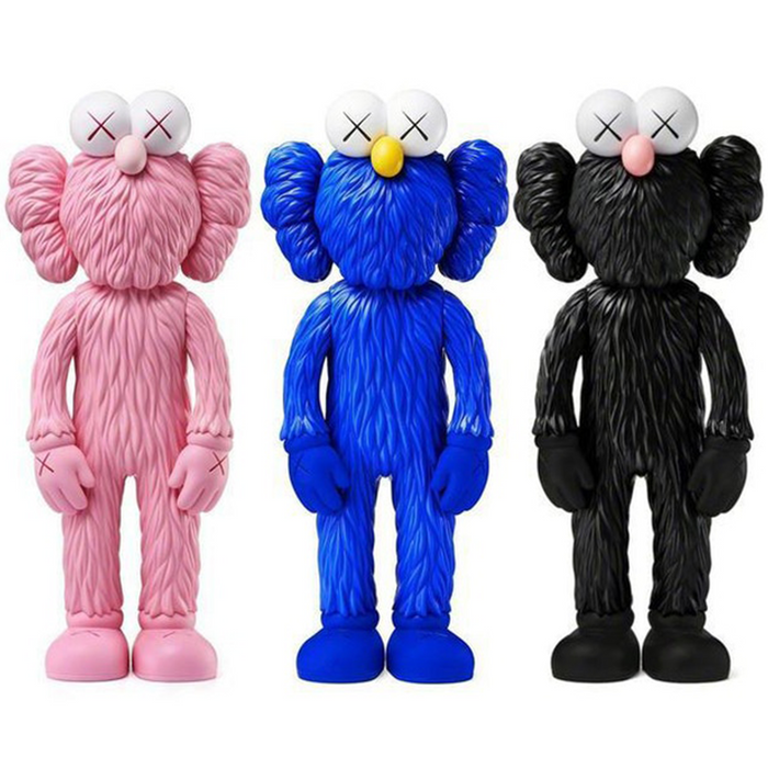 KAWS BFF Open Edition Vinyl Figure Pink/Blue/Black Set