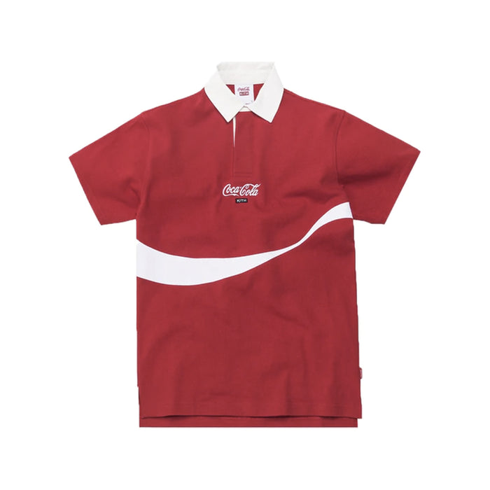 Kith x Coca-Cola Ribbon Rugby Red