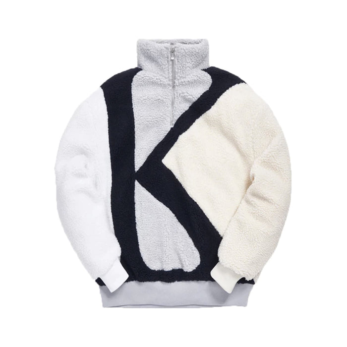 Kith Initial K Mock Sherpa Quarter-Zip Grey/Multi