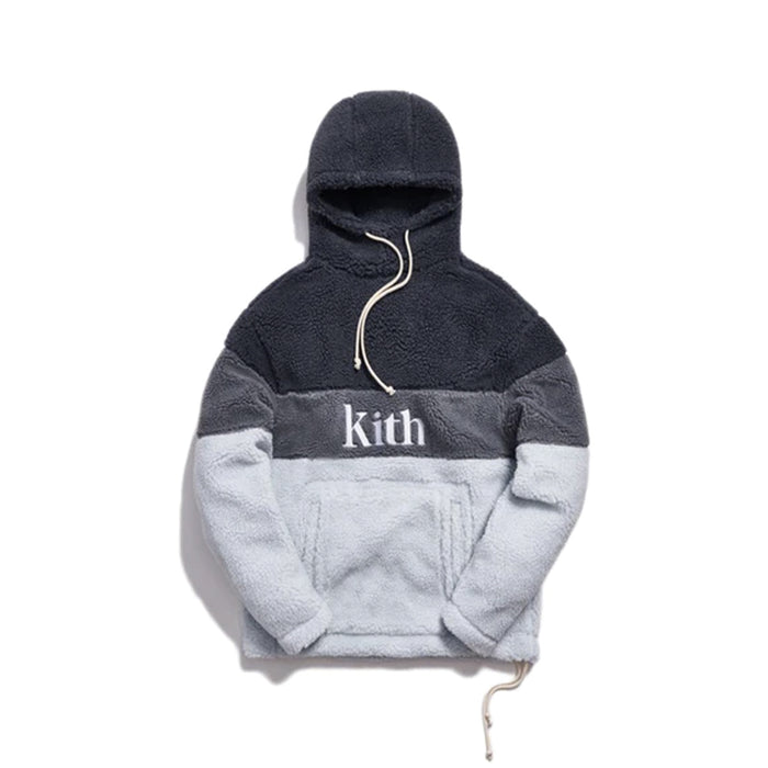 Kith Sherpa Double Pocket Hoodie Pearl Blue