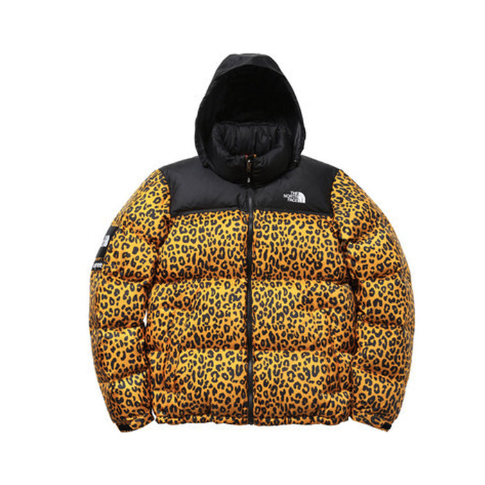 Supreme The North Face Nuptse Leopard Yellow