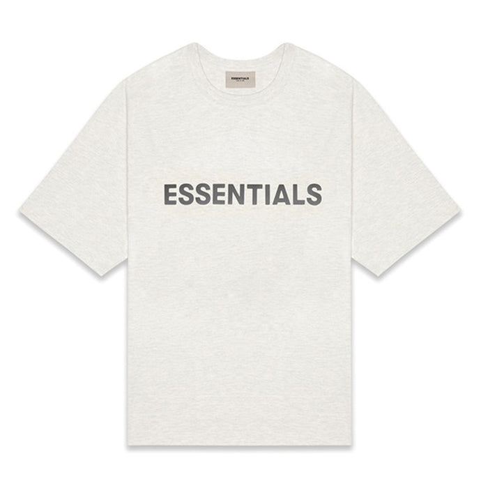 FOG ESSENTIALS 3D Silicon Applique Boxy T-Shirt Light Heather Oatmeal