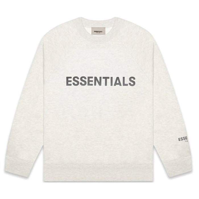 FOG ESSENTIALS 3D Silicon Applique Crewneck Light Heather Oatmeal