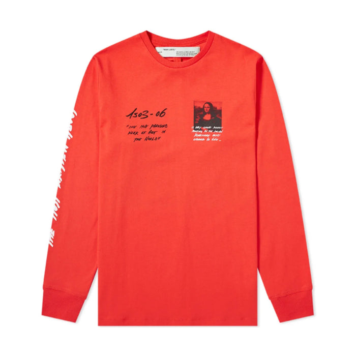 Off-White SS19 Mona Lisa Long-Sleeve Red