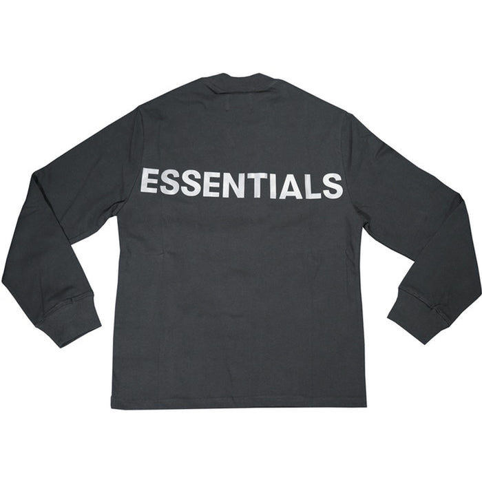 FOG ESSENTIALS 3M Logo Long Sleeve Boxy T-Shirt Black/White