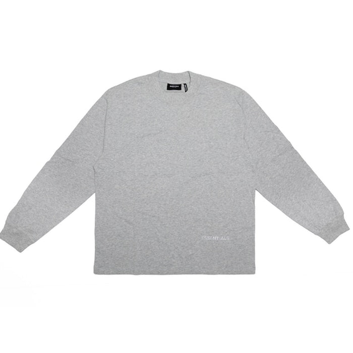 FOG ESSENTIALS 3M Logo Boxy Long Sleeve T-Shirt Dark Heather Grey/Grey