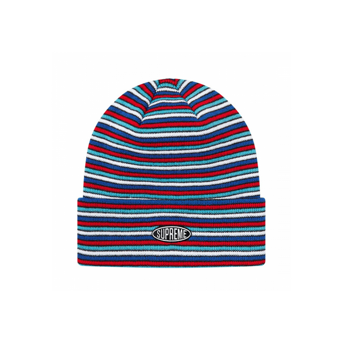 Supreme Multi Stripe Beanie (FW20) White