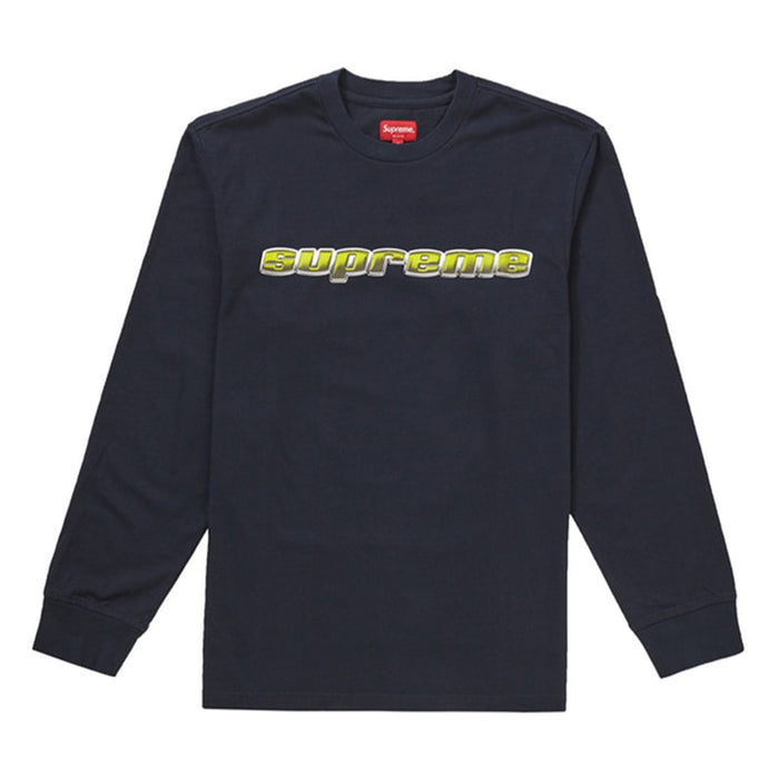 Supreme Chrome Logo L/S Top Navy