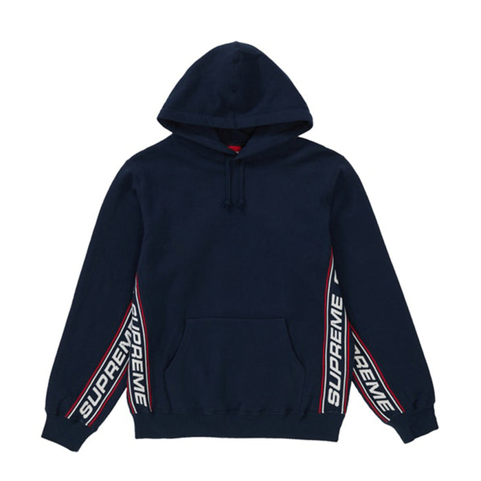 Supreme Text Rib Hooded Sweatshirt Navy
