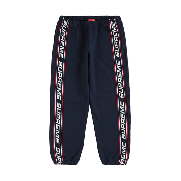 Supreme Text Rib Sweatpant Navy