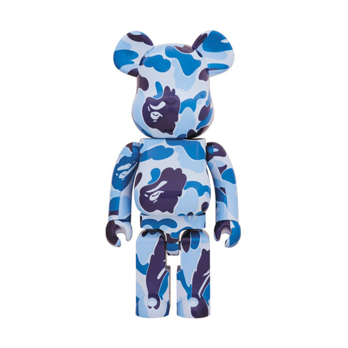 Bearbrick x A Bathing Ape ABC Camo 1000% Blue