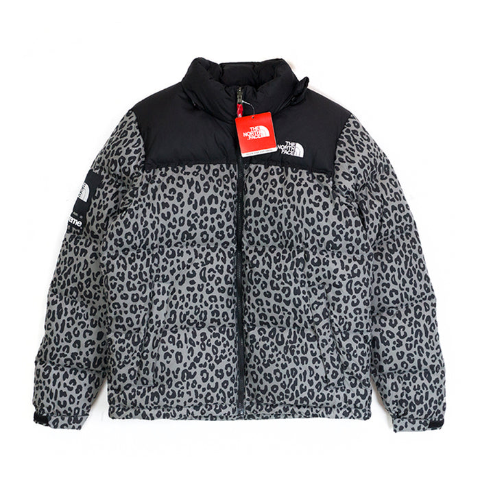 Supreme The North Face Nuptse Leopard Grey