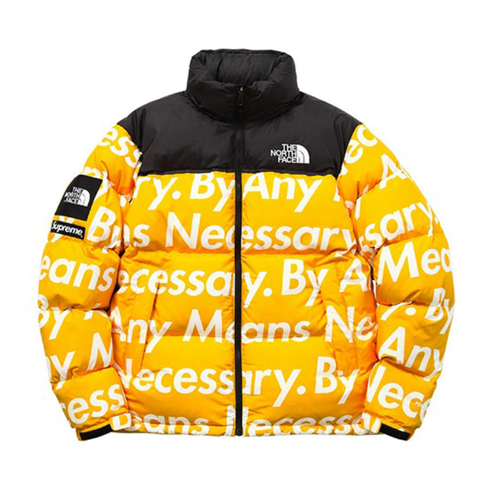 Supreme The North Face By Any Means Nuptse Jacket Yellow