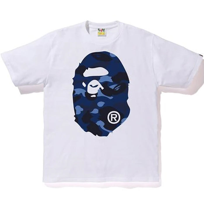 BAPE Color Camo Big Ape Head Tee White/Navy