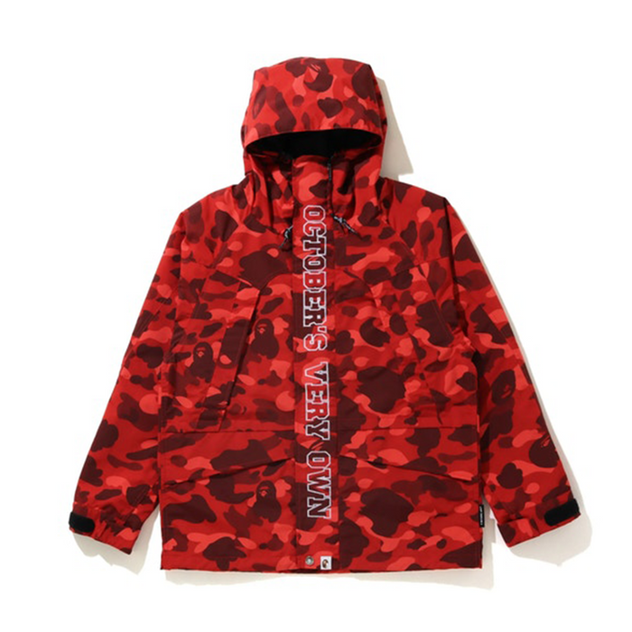 BAPE x OVO Color Camo Jacket Red