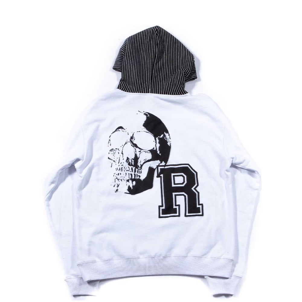 Revenge Gallery Pinstripe French Terry Hoodie White