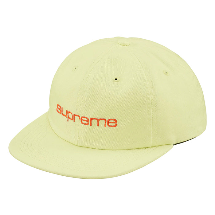 Supreme Compact Logo 6-Panel Pale Lime