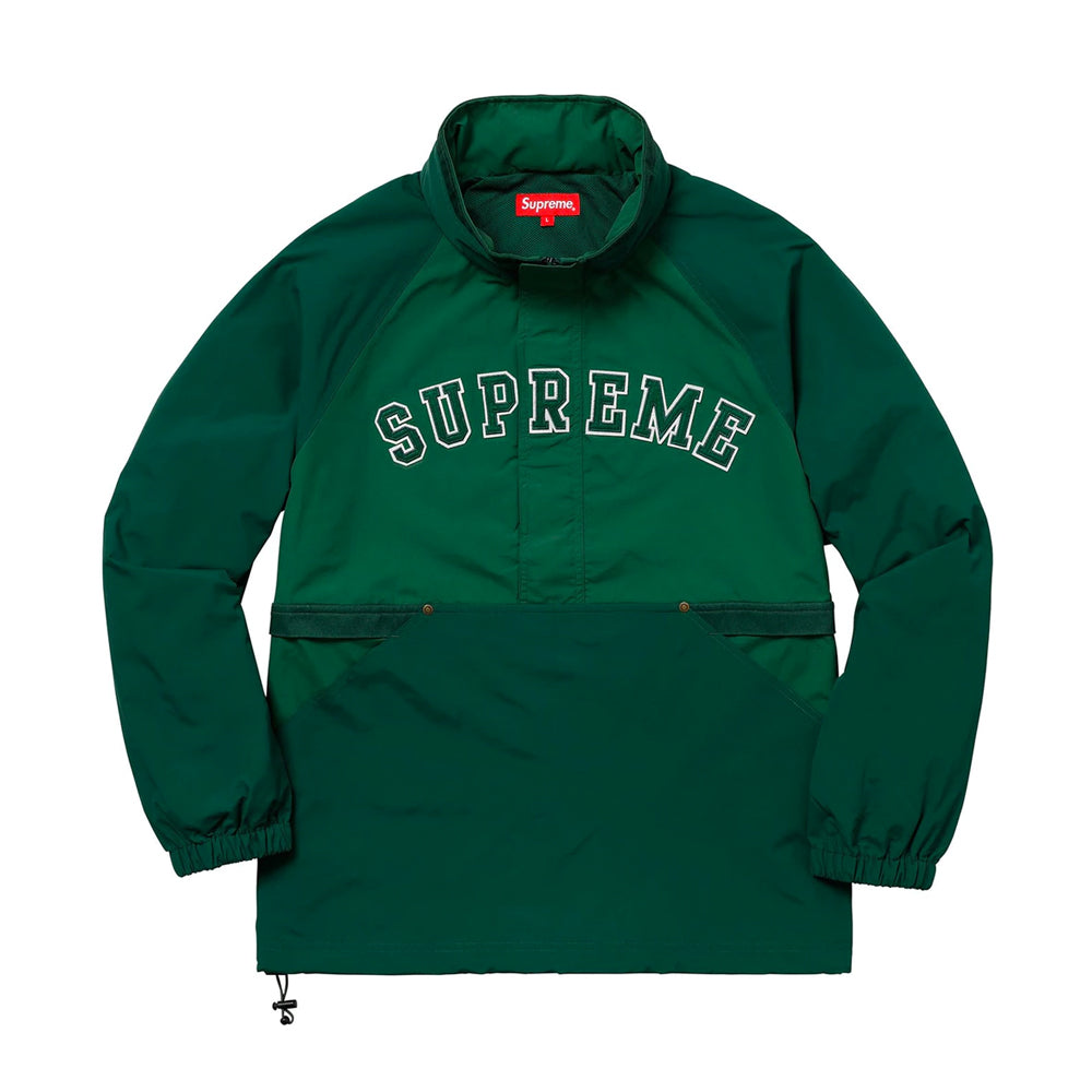 Supreme Court Half Zip Pullover Dark Green