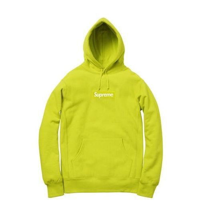 Supreme Box Logo Hooded Sweatshirt Lime