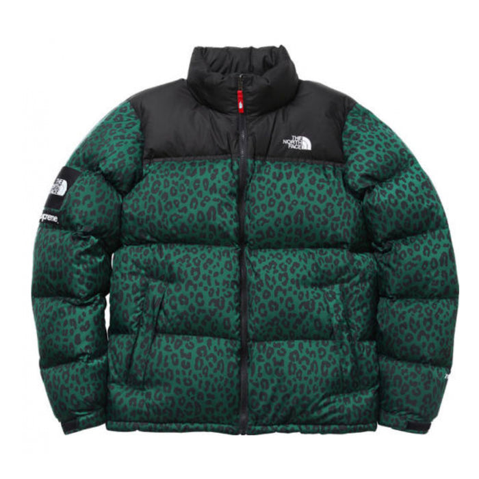 Supreme The North Face Nuptse Leopard Green