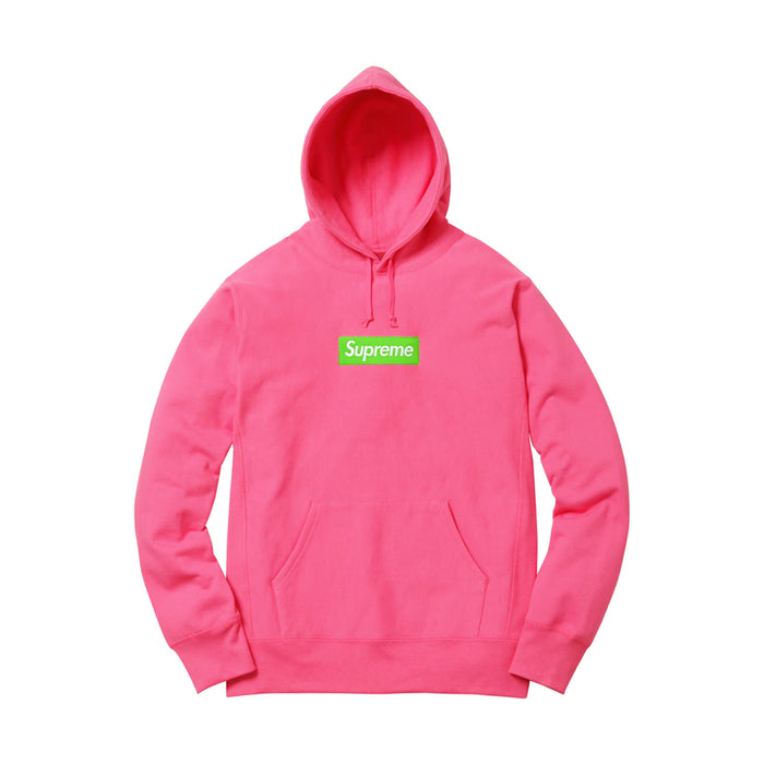 Supreme Box Logo Hooded Sweatshirt (FW17) Magenta