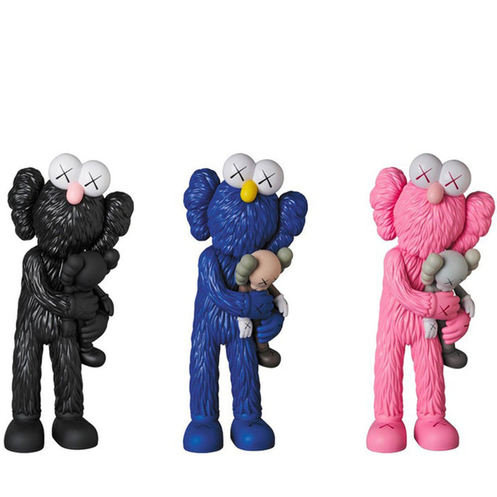 KAWS Take Vinyl Figure Black/Blue/Pink Set