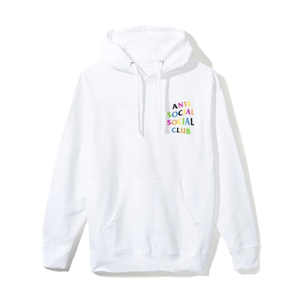 Anti Social Social Club Rainbow Hoodie White