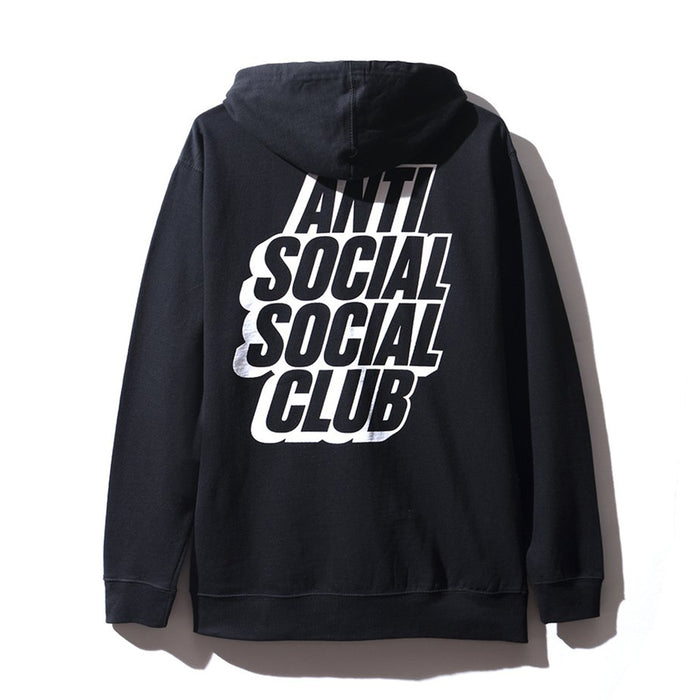 Anti Social Social Club Blocked Hoodie Black