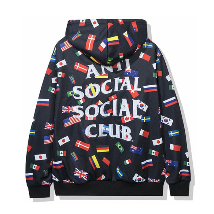 Anti Social Social Club Orlando Flag Hoodie Black