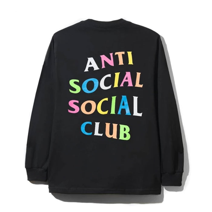 Anti Social Social Club Rainbow Crewneck Black