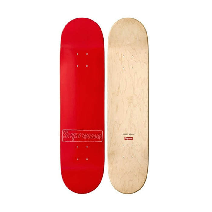Supreme Kaws Box Logo Skateboard Deck Red (2011)