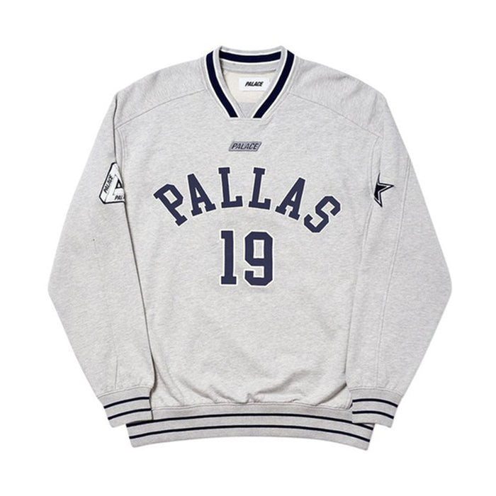 Palace Pallas Crew Grey Marl