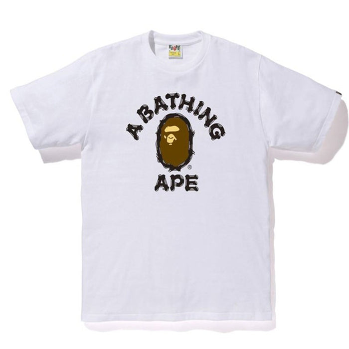 BAPE Brush College Tee (SS20) White