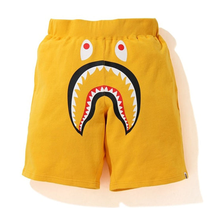 BAPE Shark Wide Sweatshort Yellow