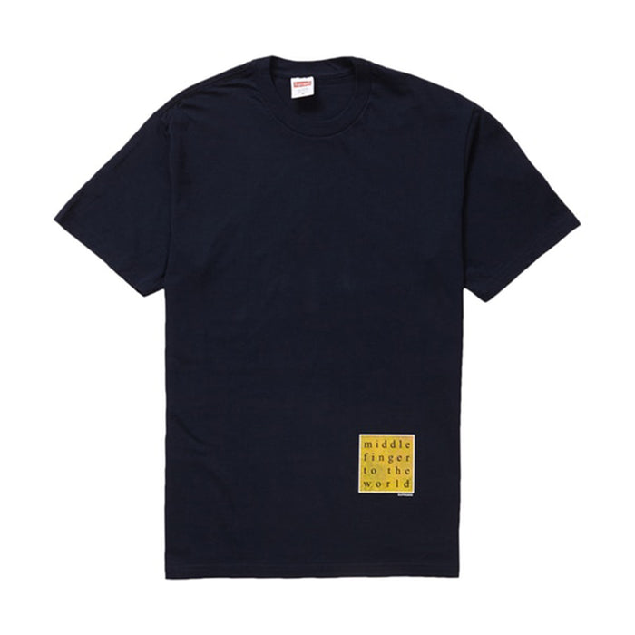 Supreme Middle Finger to the World Tee Navy