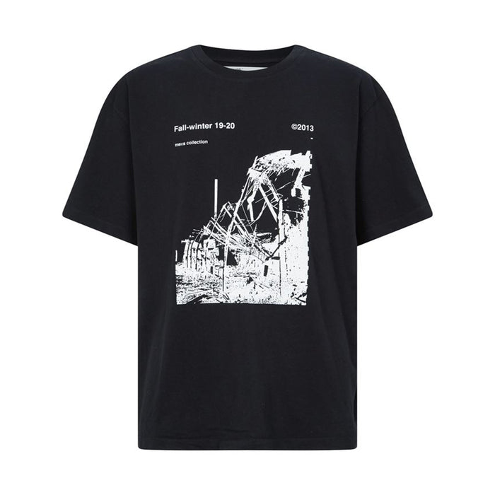 OFF-WHITE Oversized Ruined Factory Tee Black/White